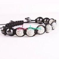 2012 cassica shinning Shamballa Bracelets Ball Tibetan Rope Bracelets Shambhala AB Rhinestone Bead Charms Craft Jewelry 260317