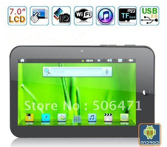 HK post 7 inch Vimicro VC882 Android 2.3 Cortex A8 Tablet PC 512RAM 4GB HDD WiFi G-sensor Camera V7
