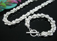 Ювелирный набор 925 silver jewelry sets.Men jewelry set.necklace set.silver chain.fashion jewelry set. Factory price Fine Jewelry