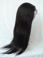 long 100  human hair wig