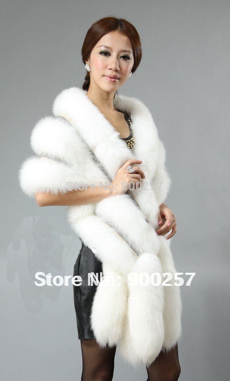 White fox fur shawl national sheriffs association
