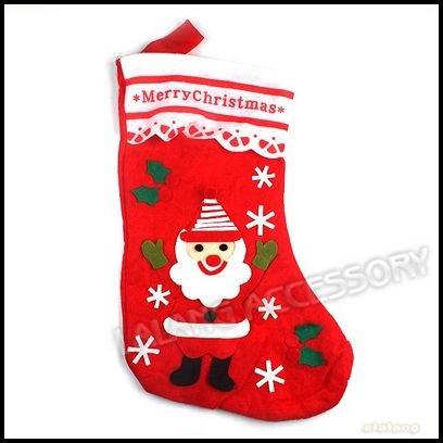 Christmas Decorations Wholesale on 3pcs Lot Christmas Gift Red Big Size Non Woven Christmas Socks