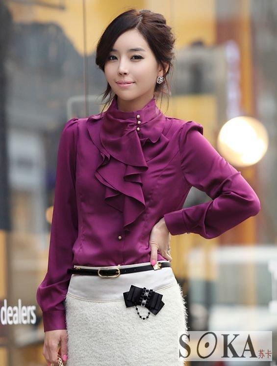 Long Sleeve Shirt Blouse