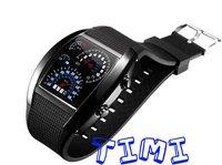 Наручные часы Fashion Blue Binary LED Watch Mens NEW Shinshoku
