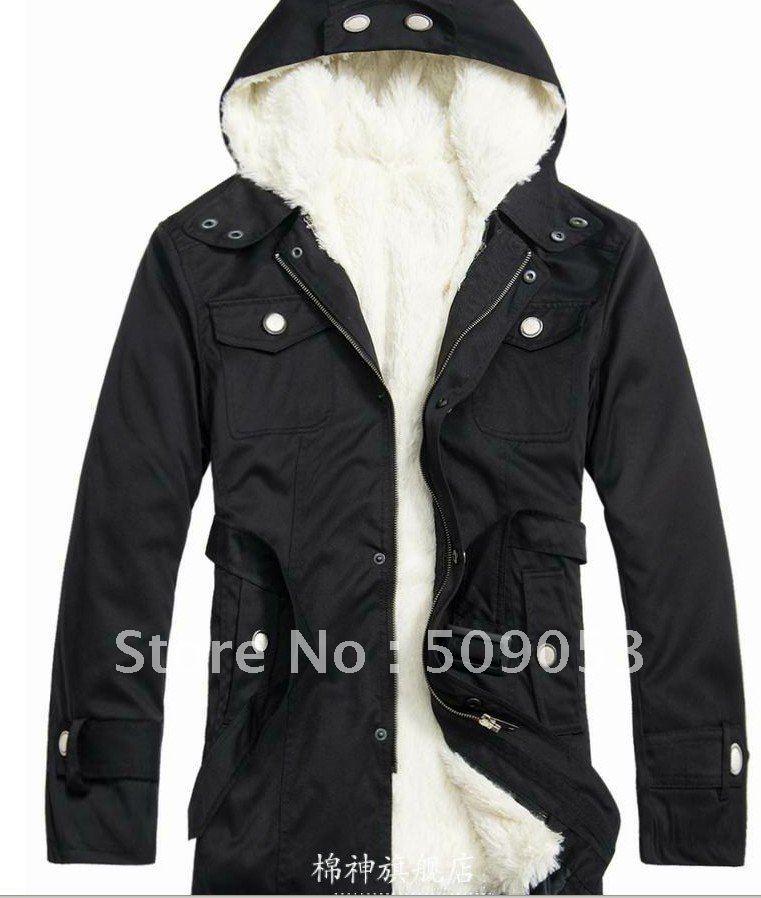 Fleece Lined Coat Mens