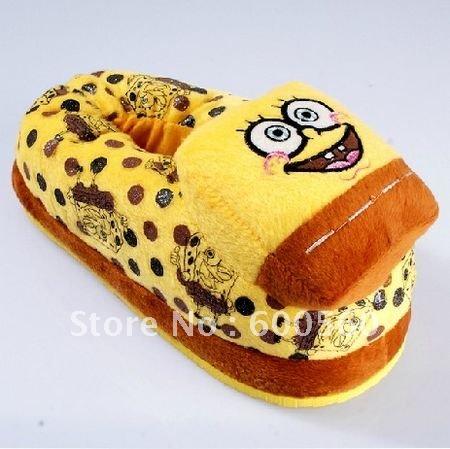 High Quality 5 pcs/Lot Spongebob Slippers Stuffed Spongebob Slippers Winter Slippers Women's ...