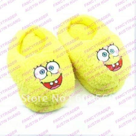 Spongebob Slippers Stuffed Spongebob Slippers Winter Slippers Women's Slippers 5 pcs/Lot Fre ...