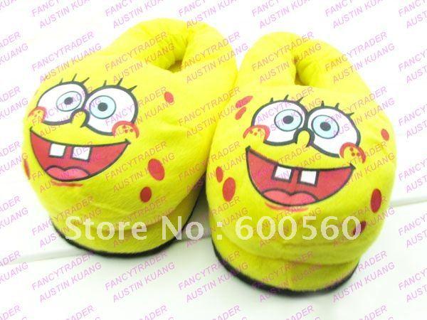 Cartoon Slippers Stuffed Spongebob Slippers Winter Slippers Women's Slippers 5 pcs-Lot Free  ...