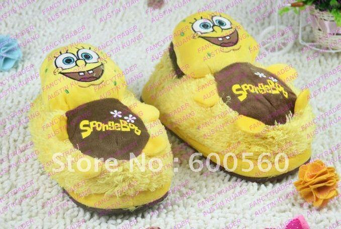 Bedroom Slippers Stuffed Spongebob Slippers Winter Slippers Women's Slippers 5 pcs/Lot Free  ...