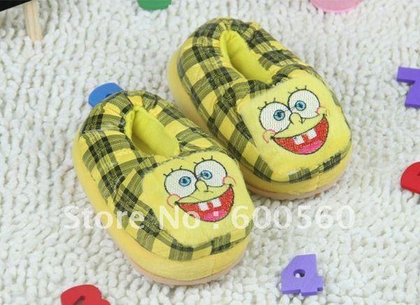 House Slippers Stuffed Spongebob Slippers Winter Slippers Women's Slippers 5 pcs-Lot Free Sh ...