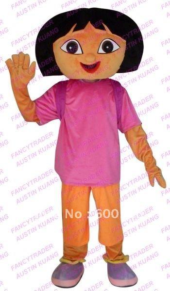Hot Cute Dora The Explorer Mascot Costume Dora Mascot Costume Dora Fancy Dress Christmas Costume ...