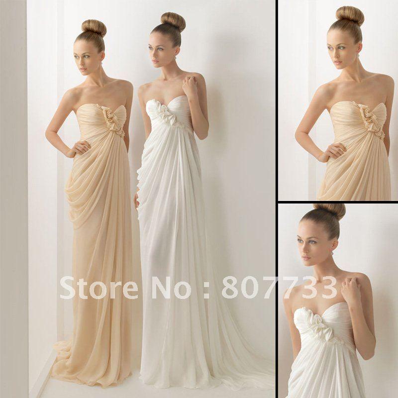 beach wedding dresses chiffon