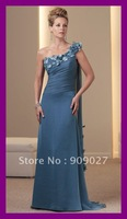 2012 Charming V-Neck Portrait Chiffon Tiered Knee Length Designer Mother Of The Bride Groom Dresses Gowns Outfits