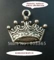 free shipping 90 pcs/lot,greatly reduced price wholesale lovely crown charms tibetan silver charms jewelry accessories