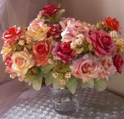 Christmas home wedding decorationHigh simulation silk flower artificial