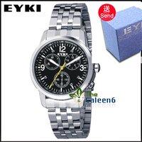 Наручные часы 2012 New Unique Desgin Brand EISTA 3016-2G Genuine Leather Strap 3ATM Water Resistant High Quality Gift Box