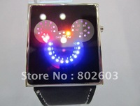 Наручные часы 1pcs/lot 2012 new ODM LED watch luxury Date digital watch Mens Sport red Led Watch