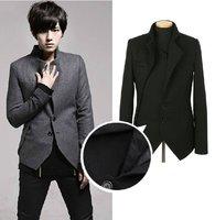 Мужская толстовка 2012 Fall winter New Men's fashion Hooded sweater Decorative metal buckle jacket coat W12 P50