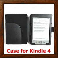 PU Leather Kindle 3 Case + For Amazon Kindle keyboard 3G Screen Protector,Free shipping