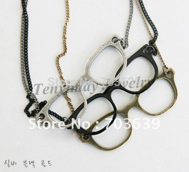 Diy Glass Pendant Necklace Glasses Pendant Necklace