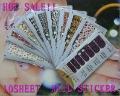 FREESHIPPING Wholesale Nail Foils Sticker set/10sheet Nail Art Stick Patch 3D Sticker For Fingernail Desgin & decoration 047