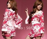 Женский эротический костюм 15% OFF! Sexy leopard kimono sexy robe bathrobe sexy gowns black H8069