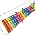 Educational percussion instrument toy:Vibraphone,15 tones Aluminium harp.Long Striking harp