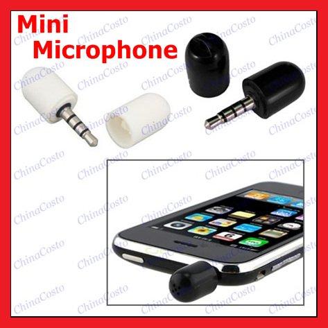 Дешевый телефон Мини микрофон Микрофон Recorder для iPhone сенсорный iPod, бесплатная доставка, 2pcs/lot