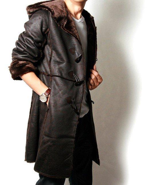 Fur Lined Mens Coat