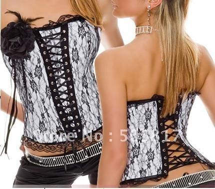 Drop shipping Sexy corset body shaper women lace corset flower