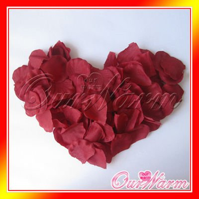 Free Shipping A Pack Of 100 Pieces Crimson Dark Deep Red Silk Rose
