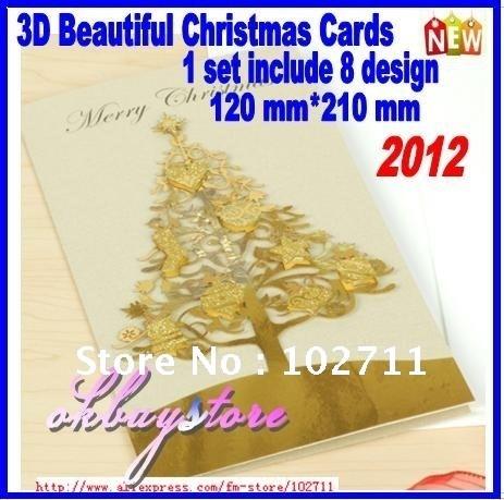 Free shipping . 2012 Christmas Card,Small xmas Gift Car