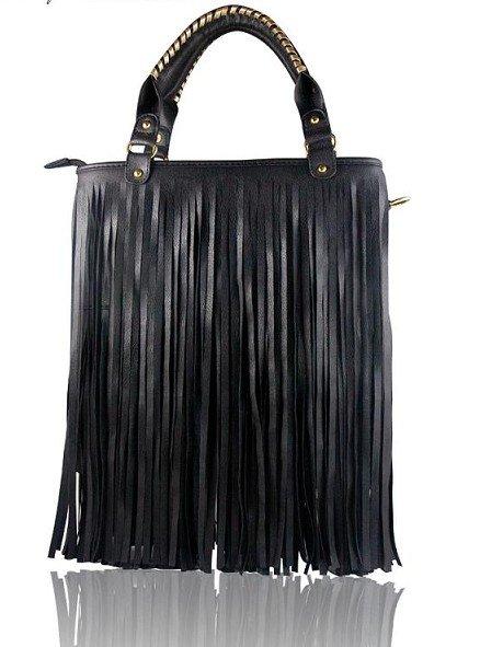 Leather Fringed Shoulder Bag 54
