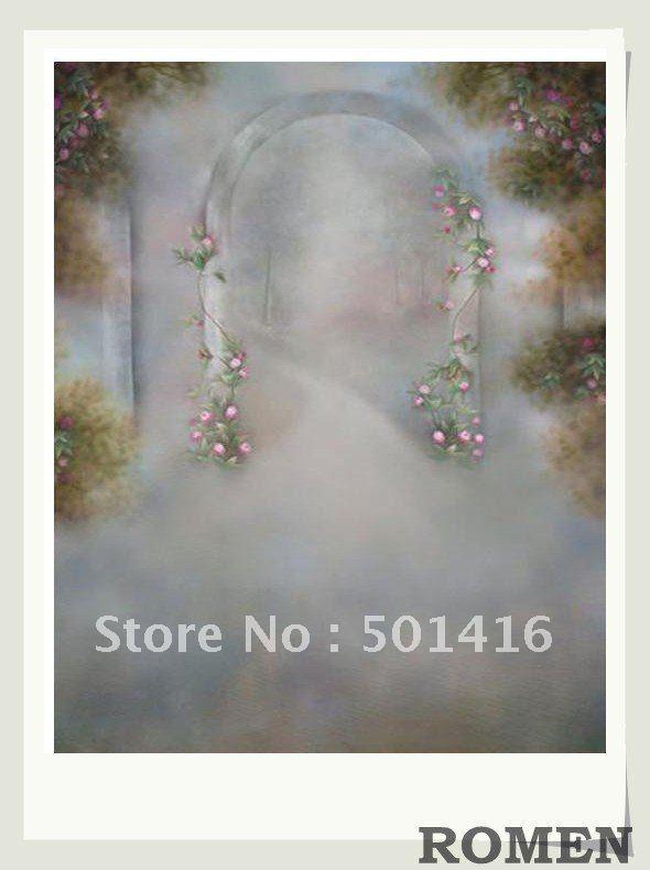 Wholesale Wedding Background Photo Studio Muslin Hand Painted Backdrops