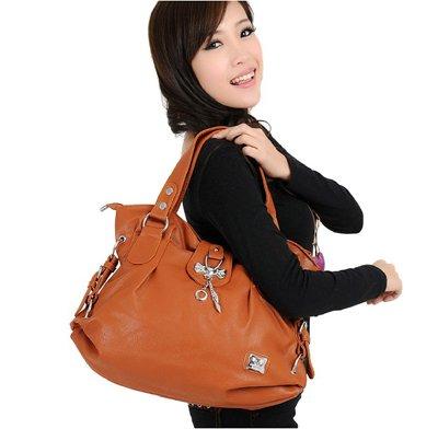 Orange Handbags on Free Shipping Handbags Handbag Tassel Tote Bags Pu Leather Grey And
