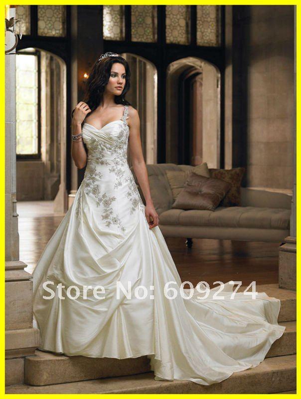 Ball Gown Taffeta Applique Affordable Wedding Dress Bridal Gown