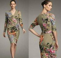 Коктейльное платье Lace Short Sleeve Dress 120220XB01