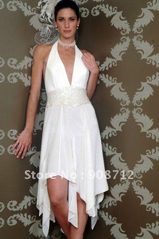 Halter Wedding Dresses Short
