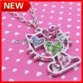 Christmas Items, Free Shipping Hello Kitty Pendant Necklace, 60pcs/lot+Free organza jewelry gifts bag
