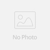 beaded sweetheart red feather front short and long back wedding dress