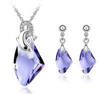 Free shipping wholesale mix! jewelry set,crystal jewelry,fashion jewelry,necklace ,make with Swarovski Elements  (5- colors)