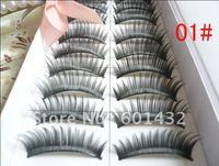 4cases per lot 9 10 11 12mm 0.15 C silk made fashional false eyelashes  Free shipping best selling