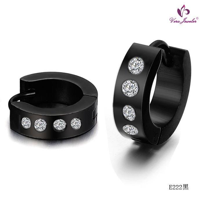 Titanium-steel-Hoop-Earrings-Diamond-Earrings-Blue-Black-Silver-Color-Earrings-Fashion-Men-Earrings-Titanium-steel