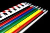 Colorful Metal Appearing Cane Wand Stage Magic Tricks Pro Stainle 10pcs/lot wholesale with free shipping magic