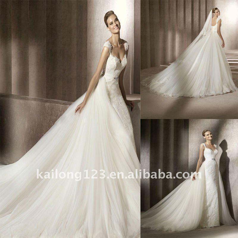 cap sleeve wedding dress lace