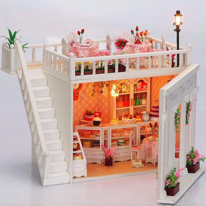 3d led light dollhouse miniatures the penthouse balcony honey time ...