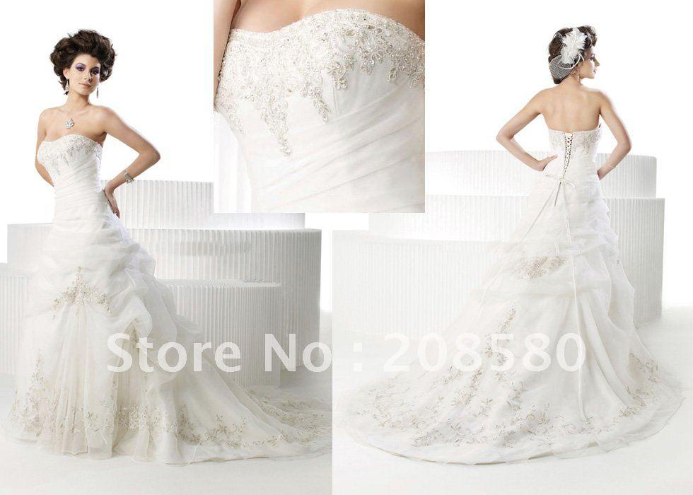 Strapless with Corset Back Wedding Dress – fashion dresses