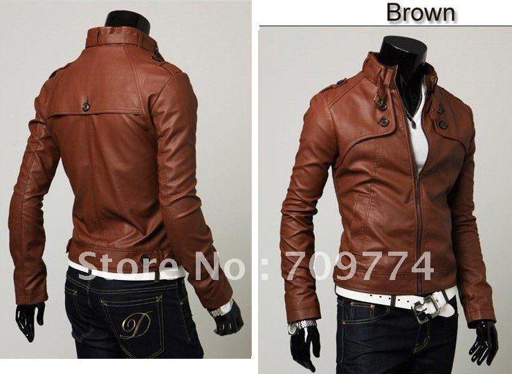 Mens faux leather jacket slim fit – Modern fashion jacket photo blog