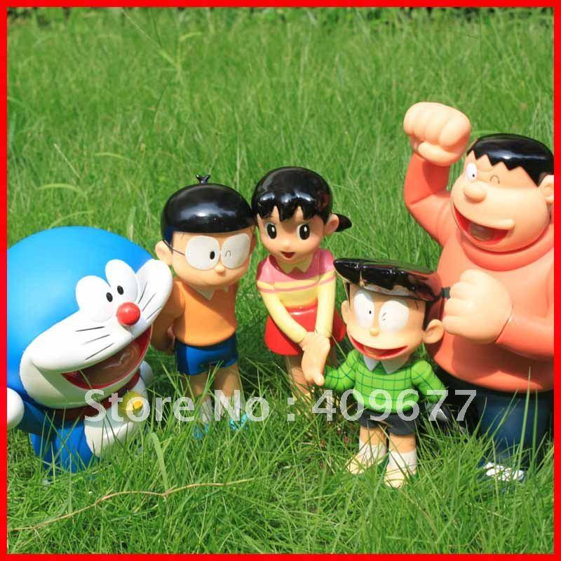 Wholesale!A Lot For 3pcs PVC Doraemon And Cat Anime Action