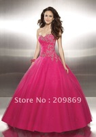 H1008 Drop Shipping Low Price Free Shipping Strapless Lace Ball Gown Bridal Dress 2012